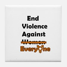 End Violence Against Everyone Tile Coaster