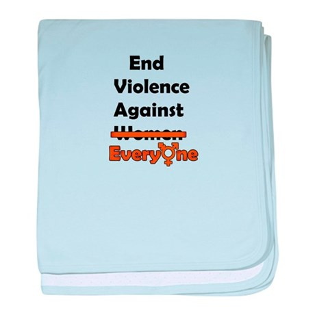 End Violence Against Everyone baby blanket