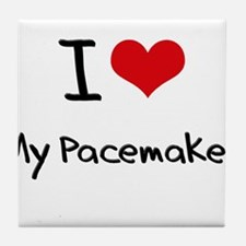 I Love My Pacemaker Tile Coaster