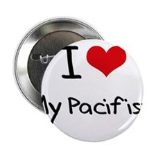 """I Love My Pacifist 2.25"""" Button"""