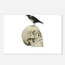 Skull And Raven Postcards (Package of 8)
