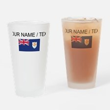 Custom Anguilla Flag Drinking Glass