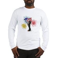 Dachshund Patriotic Black and Tan Long Sleeve T-Sh