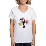 Dachshund Womens V-Neck T-shirts