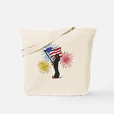 Dachshund Patriotic Black and Tan Tote Bag