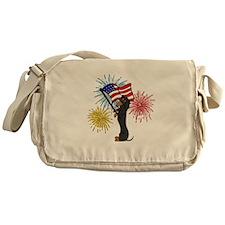 Dachshund Patriotic Black and Tan Messenger Bag