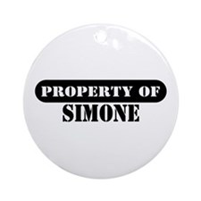 Property of Simone Ornament (Round)