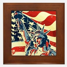 Happy Independence Day Framed Tile