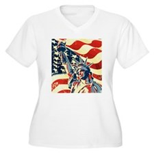 Happy Independence Day Plus Size T-Shirt