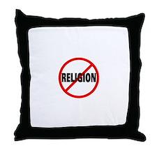 Ban Religion Throw Pillow