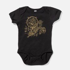 Clockwork Collage Baby Bodysuit