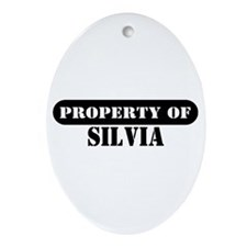 Property of Silvia Oval Ornament