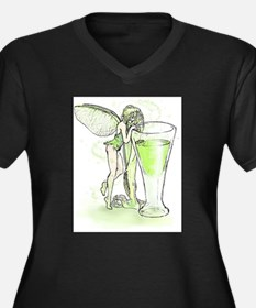 Absinthe Fairy Toying With Glass Women's Plus Size