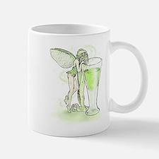 Absinthe Fairy Toying With Glass Mug