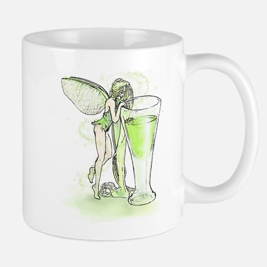 Absinthe Fairy Toying With Glass Mug