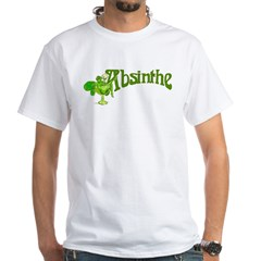 Fairy In Glass Absinthe White T-Shirt