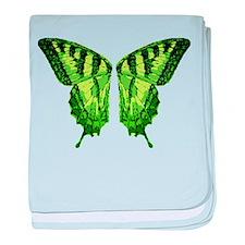 Green Fairy Wings baby blanket