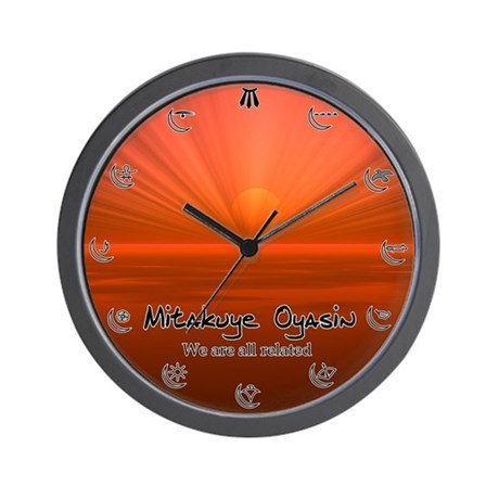 We are all related Wall Clock