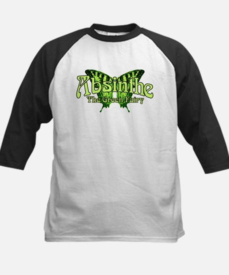 Absinthe The Green Fairy Wings Kids Baseball Jerse
