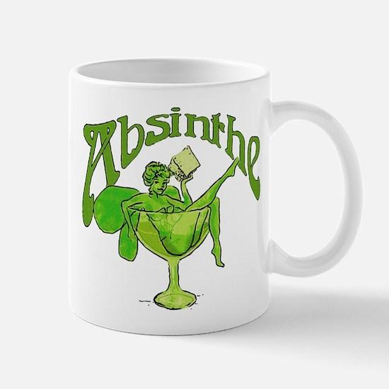 Absinthe Green Fairy In Glass Mug