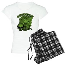 Absinthe Green Fairy Lady Collage Pajamas