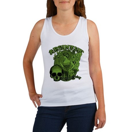 Absinthe Green Fairy Lady Collage Women's Tank Top
