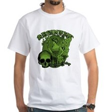 Absinthe Green Fairy Lady Collage Shirt