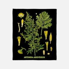 Artemesia Absinthium Throw Blanket