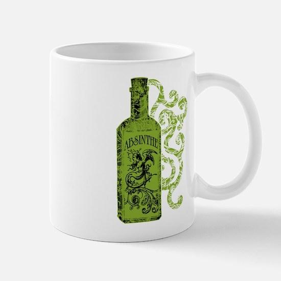 Absinthe Bottle With Swirls Mug