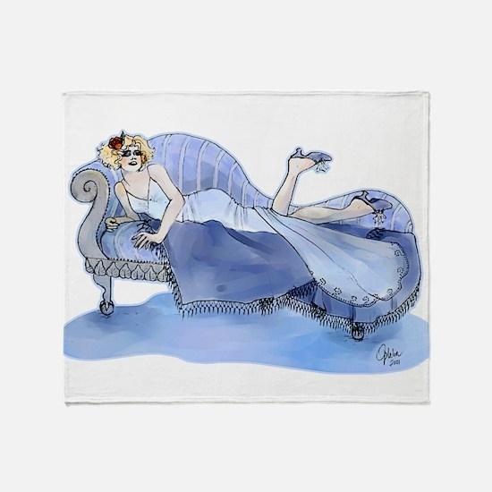 Flapper In Blue Throw Blanket