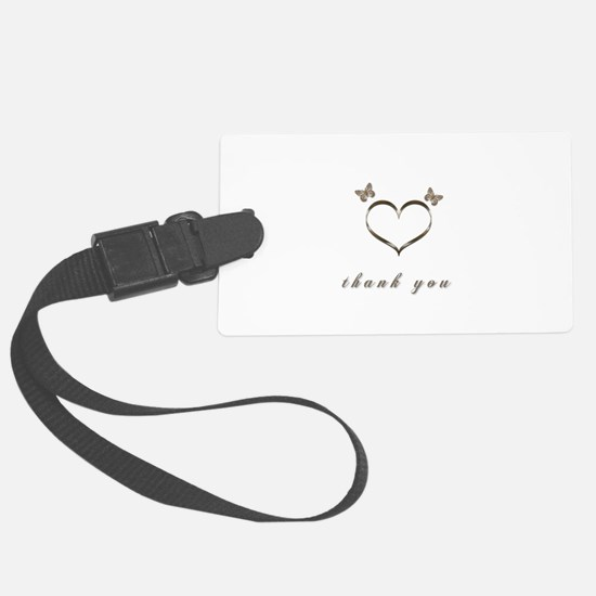 Cute Gold Heart Thank you Luggage Tag