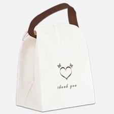 Cute Gold Heart Thank you Canvas Lunch Bag