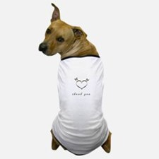 Cute Gold Heart Thank you Dog T-Shirt