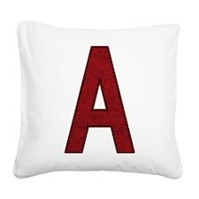 Scarlet Letter A Square Canvas Pillow