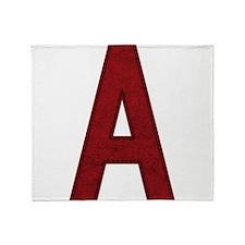 Scarlet Letter A Throw Blanket