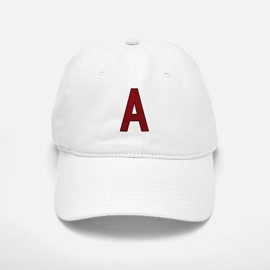 Scarlet Letter A Baseball Baseball Cap