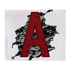 Black Lace Scarlet Letter A Throw Blanket