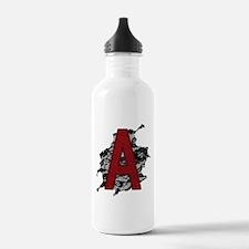 Black Lace Scarlet Letter A Water Bottle