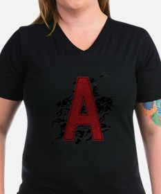 Black Lace Scarlet Letter A Shirt