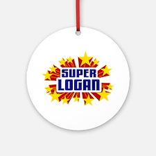 Logan the Super Hero Ornament (Round)