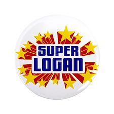 """Logan the Super Hero 3.5"""" Button"""