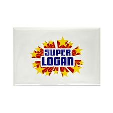 Logan the Super Hero Rectangle Magnet