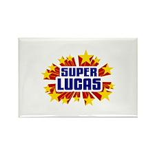 Lucas the Super Hero Rectangle Magnet