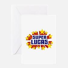 Lucas the Super Hero Greeting Card
