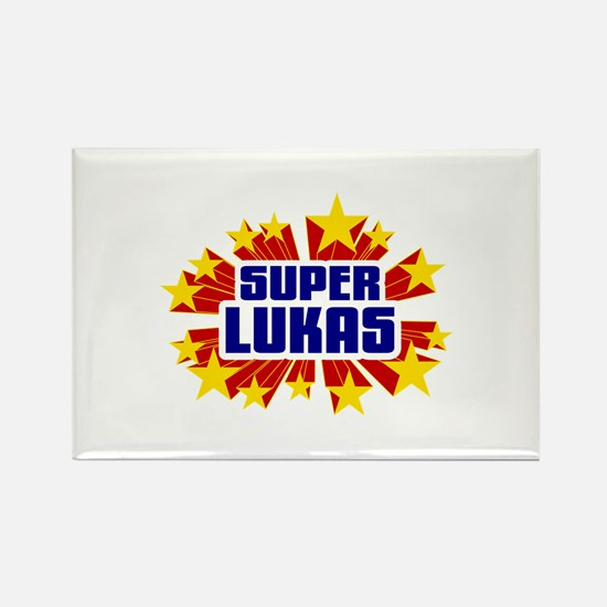 Lukas the Super Hero Rectangle Magnet