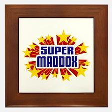 Maddox the Super Hero Framed Tile