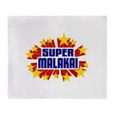 Malakai the Super Hero Throw Blanket