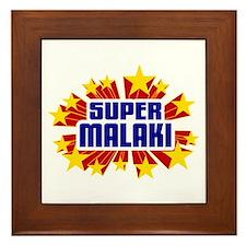 Malaki the Super Hero Framed Tile