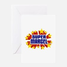 Marcel the Super Hero Greeting Card