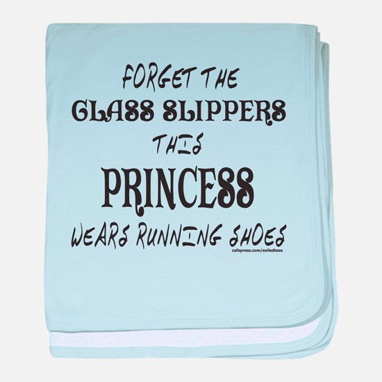 THIS PRINCESS WEARS RUNNING SHOES baby blanket
